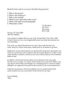 Complaints Letter To Ee Complaint Letters Resources Tes