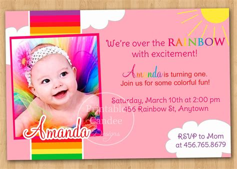 1st birthday invitation card templates free download