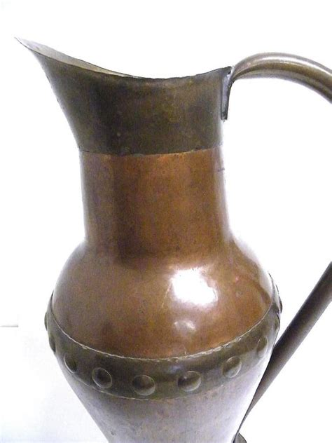 What Is A Ewer Vase by Antique Made Finished Nouveau Copper Ewer