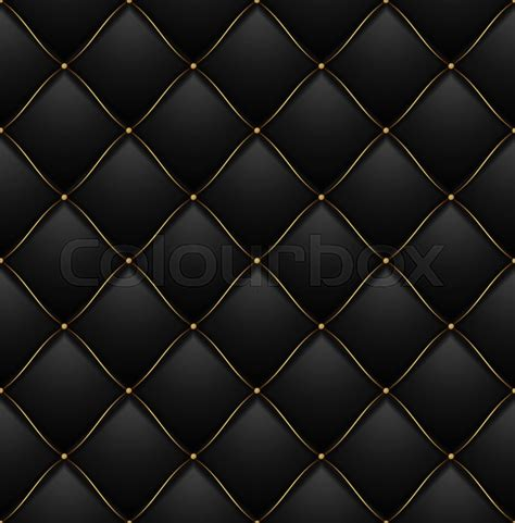 quilted pattern texture quilted pattern background vip black with gold thread