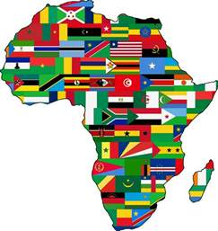africa map clipart clipart africa flags