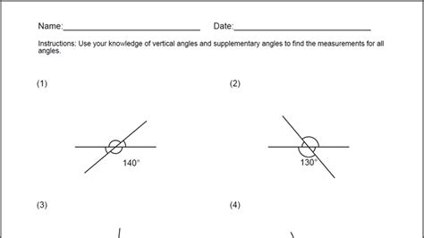 Vertical Angles Worksheet by Vertical Angles Worksheet For Windows 8 And 8 1