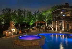Landscape Lighting Around Pool Pool Outdoor Lighting Swimming Pools