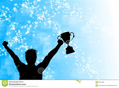 Evercoss Winner X Glow Blue trophy winner celebration stock illustration image 59627956