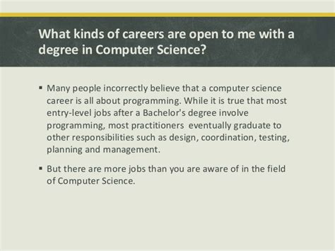 What Is Mba In Computer Science by Opportunities For A Computer Science Student