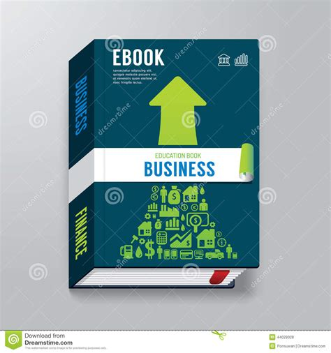 Book Cover Business Design Template E Book Book Of Business Template