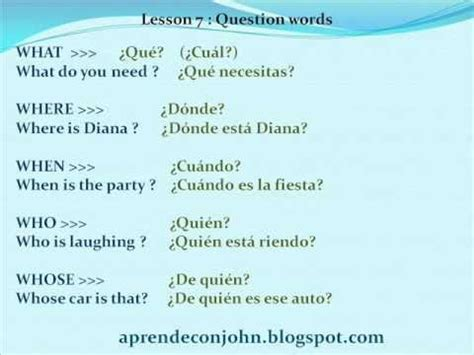 5 preguntas generales en ingles preguntar en ingl 233 s question words youtube