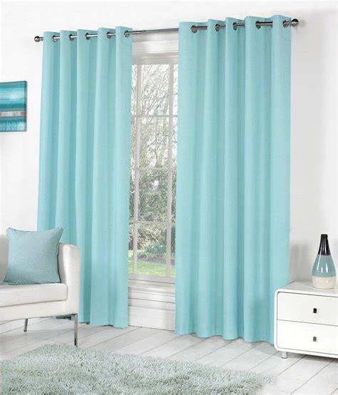 plain blue eyelet curtains pindia 1pc plain eyelet long door curtain sky blue buy