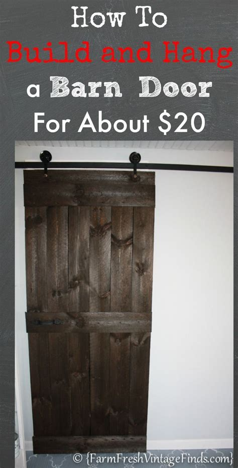 How To Hang Barn Door How To Build And Hang A Barn Door Cheaply