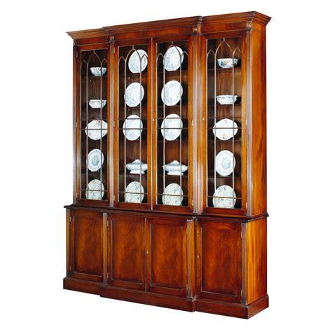 Mahogany Breakfront Bookcase mahogany breakfront bookcase with astragal glazing