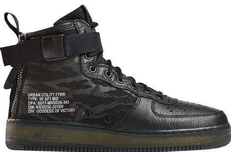 Sepatu Nike As Sf Air 1 Mid Black Hazel Hitam nike sf air 1 mid black cargo khaki