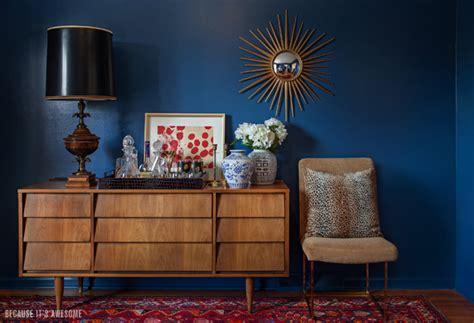 Teal Livingroom deep blue something so i repainted my dining room