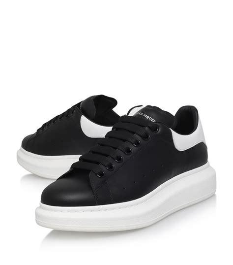 Alexander McQueen Leather Show Sneakers   Harrods.com