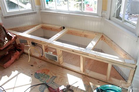 how to build a bay window bench seat with storage building a window seat with storage in a bay window