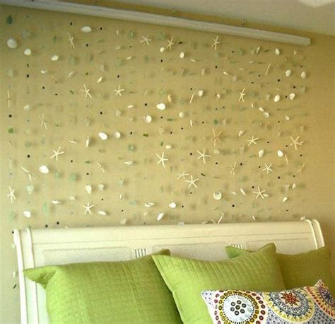 decorative beading for walls sea shells home decor and glasses on