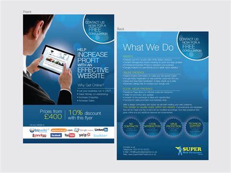 design a5 flyer online bold modern flyer design for daniel berg by kelvin tang