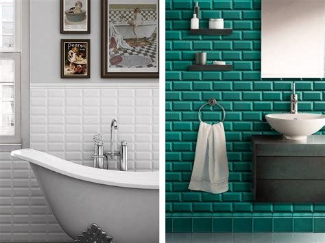 Charmant Idee Carrelage Salle De Bains #4: Carrelage-Salle-De-Bain-Turquoise-2017-Avec-Carrelage-Mural-Turquoise-Images-Salle-De-Bains-Avec-Carrelage-Metro-Blanc.jpg