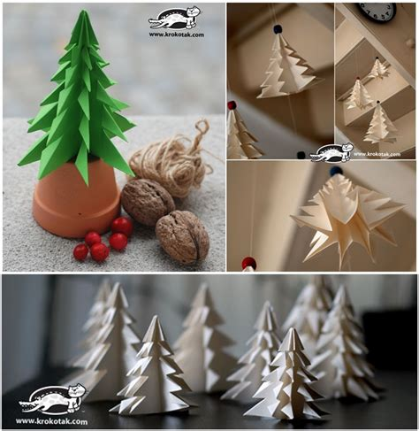 diy paper christmas tree to decorate your rooms