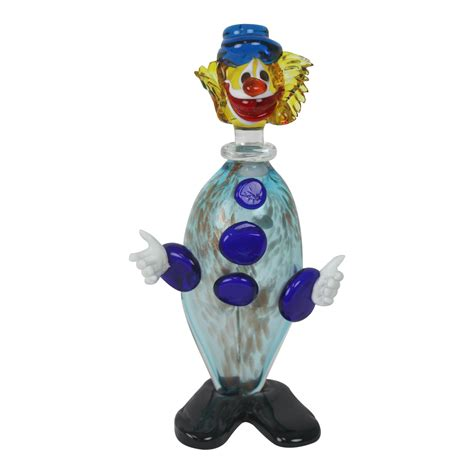 vintage murano glass clown decanter chairish