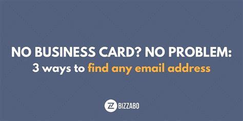 No Address On Business Card