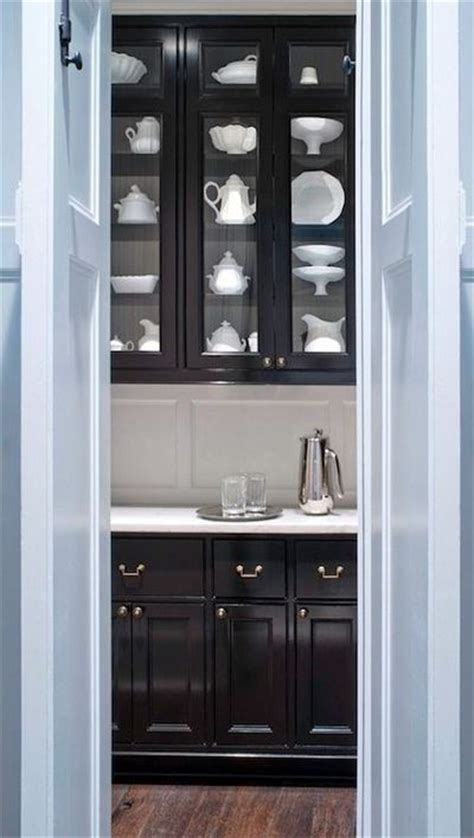 Black Pantry Cabinets by Glossy Black Butler S Pantry Cabinets For Kitchen