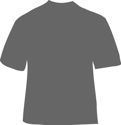 gray t shirt clip art at clker com vector clip art