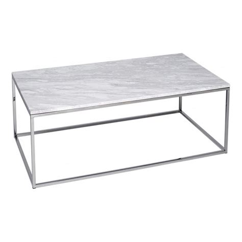rectangular metal coffee table buy marble and silver rectangular coffee table from fusion