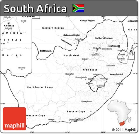 printable maps south africa free blank simple map of south africa