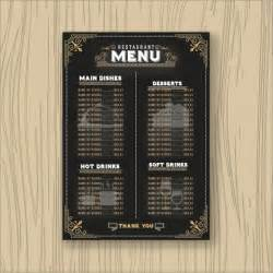 Menu Restaurant Template by Restaurant Menu Template Vector Free