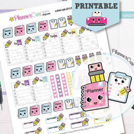 cute planner stickers free printable planning day kawaii printable planner stickers k003