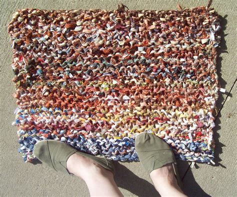 How To Knit A Rug by Knitted Rag Rugs Rugs Ideas