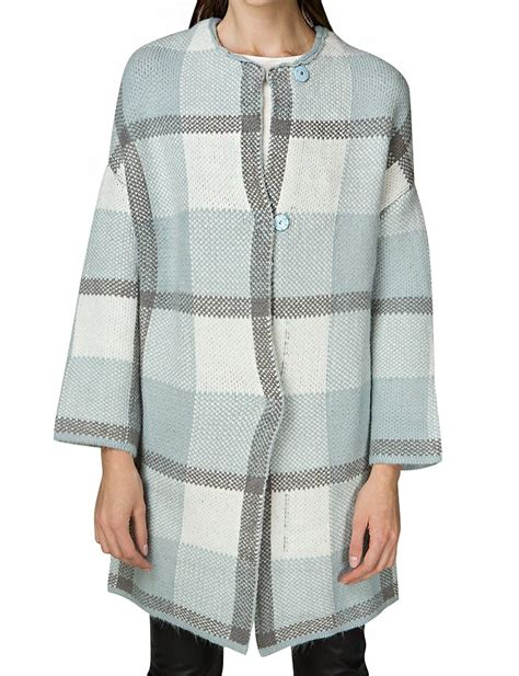 check cardigan pixie market powder blue oversize check cardigan in blue