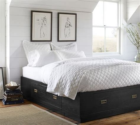 pottery barn storage bed reynolds storage platform bed pottery barn