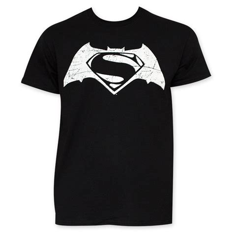 Tshirt Batman White batman v superman s black and white logo t shirt