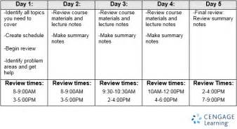 tips for students how to study with 5 3 or 1 day until