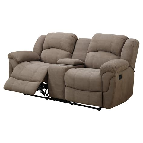 darrin leather reclining sofa with console weston home darrin leather reclining loveseat with console