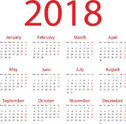 Kalendar 2018 Vector 2018 Clip Vector Images Illustrations Istock