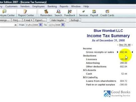 quickbooks tutorial part 2 quickbooks tutorial income taxes part 2 youtube