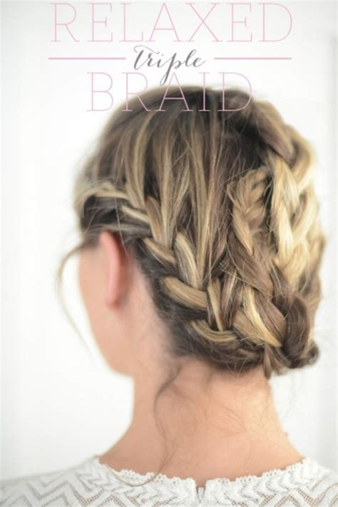 diy relaxed hairstyles cute and relaxed diy triple braid to try styleoholic