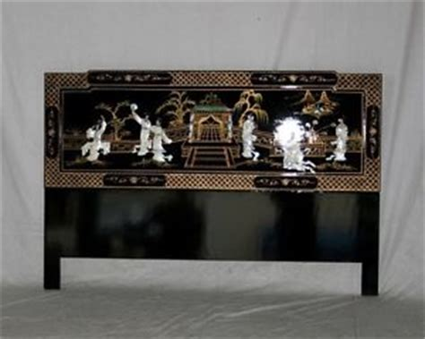 black lacquer headboard chinese kingsize headboard black lacquer mother of pearl
