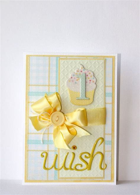 Handmade 1st Birthday Cards - birthday handmade card