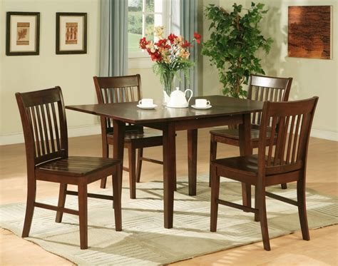 Furniture Kitchen Sets 5pc Rectangular Kitchen Dinette Table 4 Chairs Mahogany Ebay