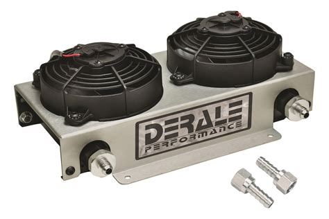 oil cooler with fan derale performance 174 13740 oil cooler