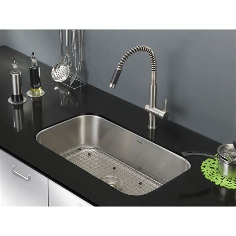 Kitchen Sinks by Ruvati 30 Inch Undermount 16 Stainless Steel Kitchen