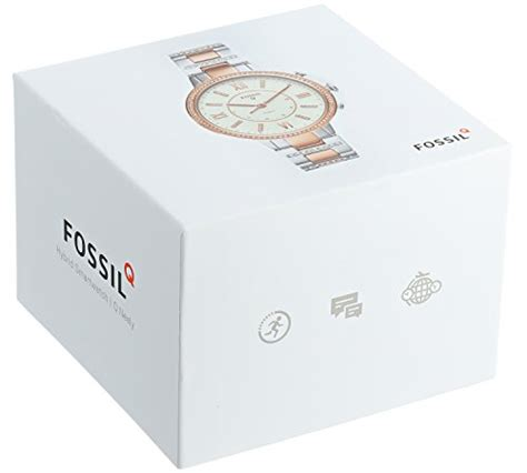 Fossil Smart Fs0100 White Silver fossil hybrid smartwatch q virginia two tone stainless steel ftw5011 11street malaysia