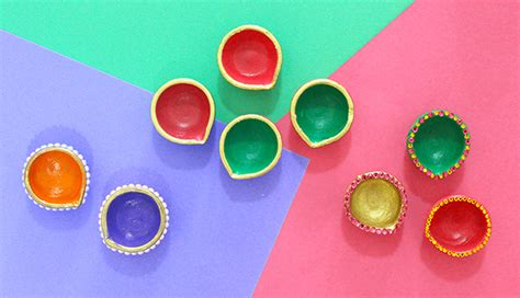 Decorating Homes Games Diy Diwali Diya Decoration Ideas In 10 Mins The Craftables