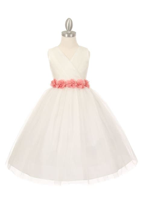 Billige Brautmode by Cheap Ivory Tulle Flower Dresses Discount Wedding