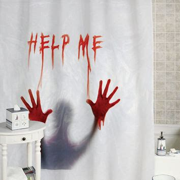 help me shower curtain bloody help me shower curtain custom from 51151curtain on etsy
