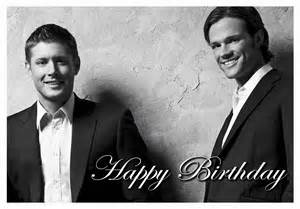 decorations birthday card or photo to hang up supernatural birthday