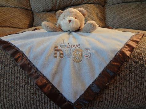 Brown Blanket Kid by Carters Child Of Mine Blue Brown I Hugs Teddy